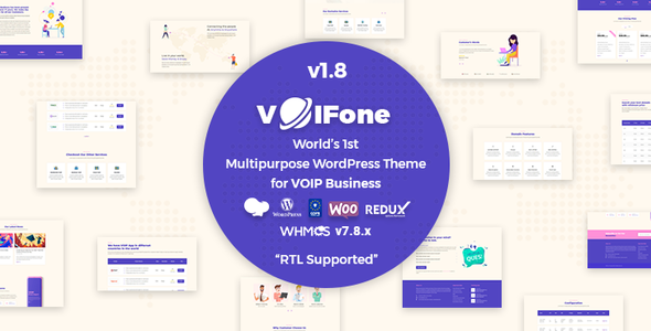 [Free Download] Voifone   Multipurpose VOIP WordPress Theme (Nulled) [Latest Version]