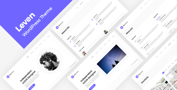 [Free Download] Leven | Resume / CV Theme (Nulled) [Latest Version]
