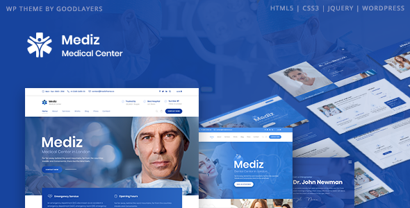 [Free Download] Mediz – Medical WordPress (Nulled) [Latest Version]