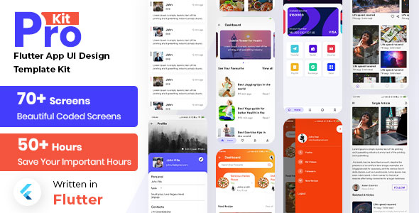 [Free Download] Prokit – Flutter App Ui Design Templete Kit (Nulled) [Latest Version]