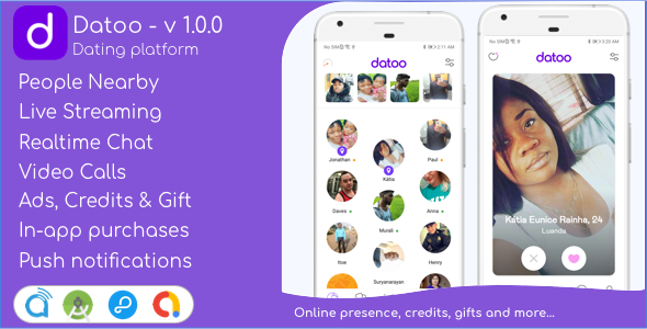 [Free Download] Datoo – Dating platform with Live Steaming and Video calls + Admin Panel (Nulled) [Latest Version]