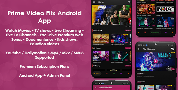 [Free Download] Prime Video Flix App: Movies – Shows – Live Streaming – TV – Web Series – Premium Subscription Plan (Nulled) [Latest Version]