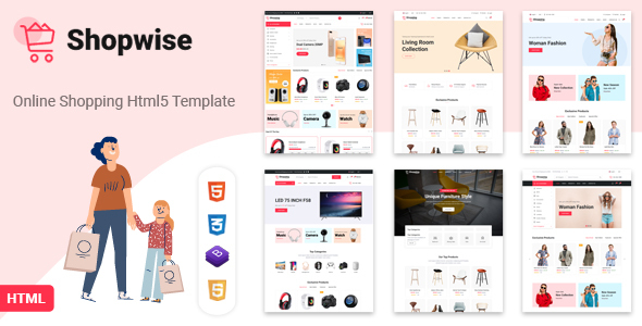 [Free Download] Shopwise – eCommerce Bootstrap 4 HTML Template (Nulled) [Latest Version]