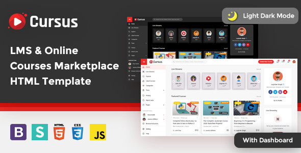 [Free Download] Cursus – LMS & Online Courses Marketplace HTML Template (Nulled) [Latest Version]