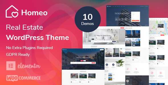 [Free Download] Homeo – Real Estate WordPress Theme (Nulled) [Latest Version]