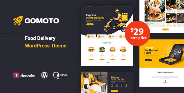 [Free Download] Gomoto – Food Delivery WordPress Theme (Nulled) [Latest Version]