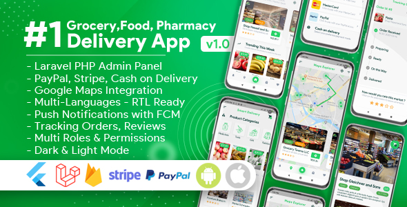 [Free Download] Grocery, Food, Pharmacy, Store Delivery Mobile App with Admin Panel (Nulled) [Latest Version]