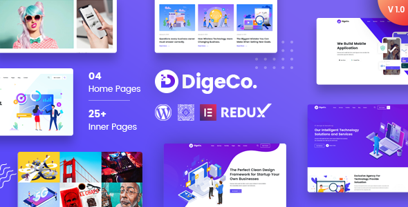 [Free Download] Digeco – Startup Agency WordPress Theme (Nulled) [Latest Version]