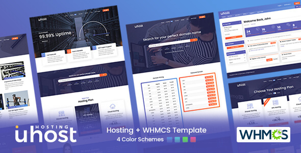 [Free Download] Uhost – Web Hosting with WHMCS Template (Nulled) [Latest Version]