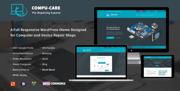 Free Download Compu Care Computer Mobile Repair Shop Wordpress Theme Nulled Latest Version Downloader Zone