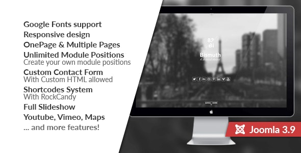 Free Download Bismuth All In One Responsive Joomla Template Nulled Latest Version Downloader Zone