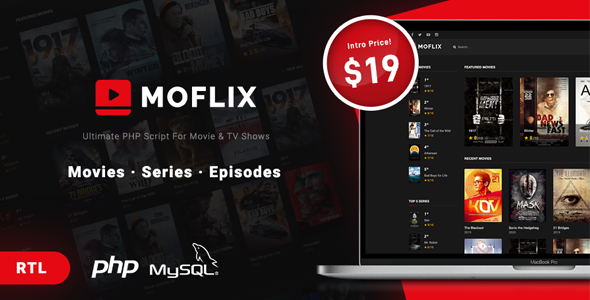 [Free Download] MoFlix – Ultimate PHP Script For Movie & TV Shows (Nulled) [Latest Version]