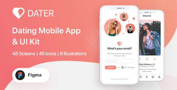 [Free Download] Dater – Figma Dating UI Kit For Mobile App (Nulled) [Latest Version]