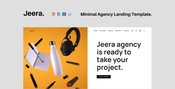 [Free Download] Jeera — Minimal Agency Landing Template (Nulled) [Latest Version]