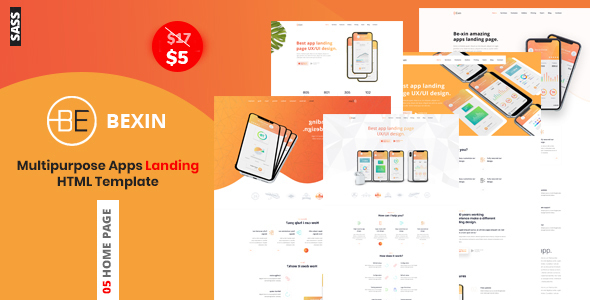 [Free Download] Bexin – Sass App Landing HTML5 Template (Nulled) [Latest Version]