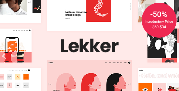 [Free Download] Lekker – Portfolio WordPress Theme (Nulled) [Latest Version]