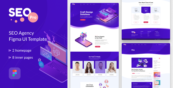 [Free Download] SeoPro – Seo&Marketing Agency Figma UI Template (Nulled) [Latest Version]
