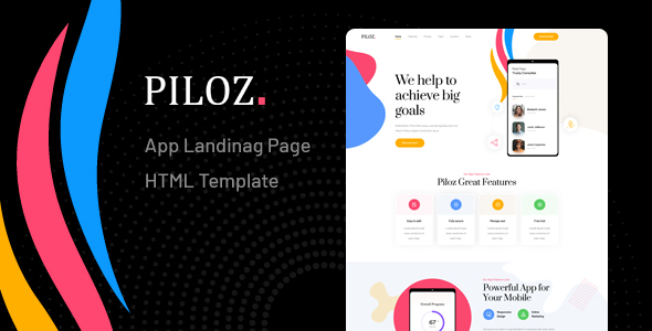 [Free Download] Piloz – App Landing Page HTML Template (Nulled) [Latest Version]