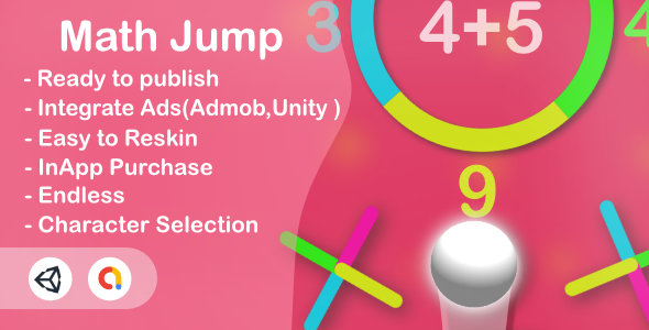 [Free Download] Math Jump (Unity Complete+Android+iOS+Admob) (Nulled) [Latest Version]
