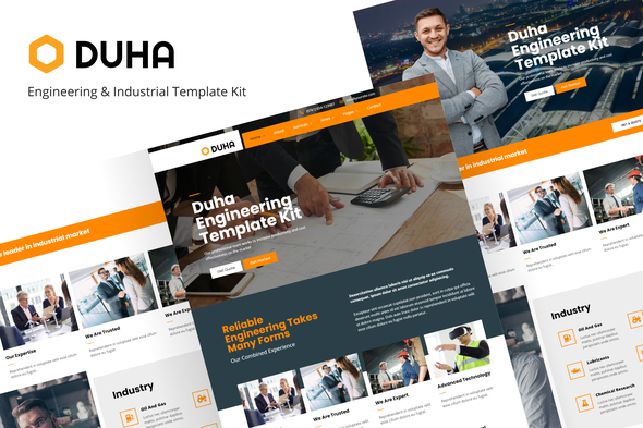 [Free Download] Duha – Engineering & Industrial Template Kit (Nulled) [Latest Version]