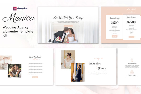 [Free Download] Menica – Wedding Elementor Template Kit (Nulled) [Latest Version]