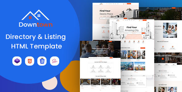 [Free Download] Downtown – Directory & Listing HTML Template (Nulled) [Latest Version]