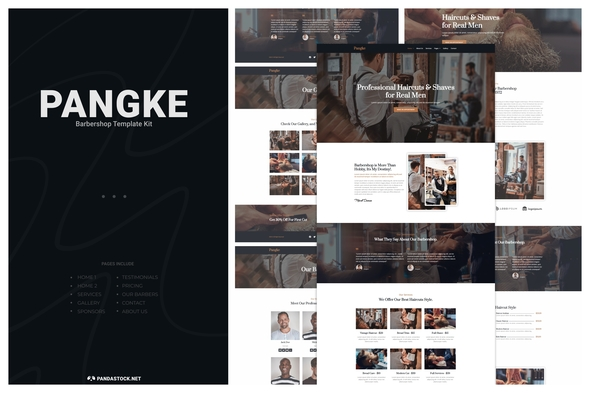 [Free Download] Pangke – Barbershop Template Kit (Nulled) [Latest Version]