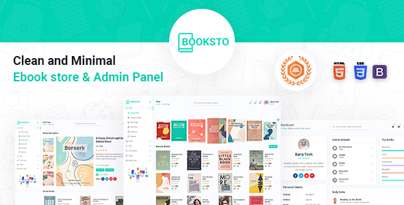 [Free Download] Booksto – Ebook Admin Template (Nulled) [Latest Version]