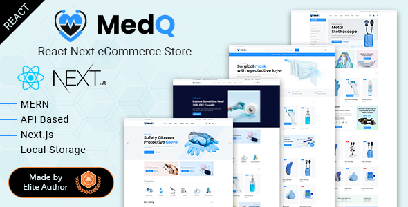 [Free Download] MedQ – React Next eCommerce Store + Admin Panel (Nulled) [Latest Version]