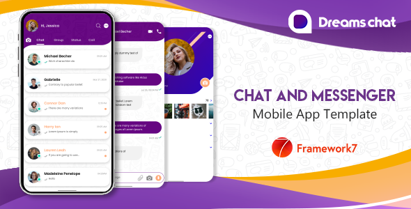 [Free Download] DreamsChat – Mobile App Template Framework 7 (Nulled) [Latest Version]