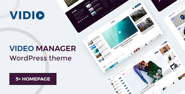 [Free Download] Vidio – Video Manager WordPress theme (Nulled) [Latest Version]