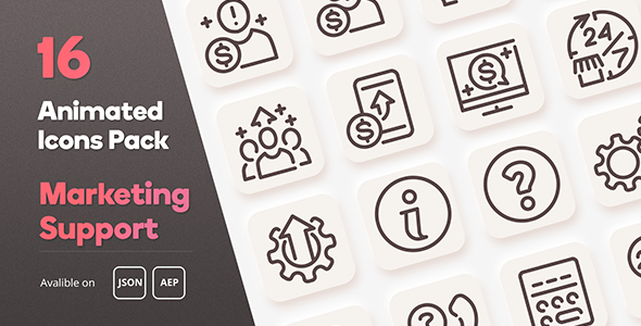 [Free Download] Marketing Support Animated Icons Pack – Lottie Json Animation SVG (Nulled) [Latest Version]