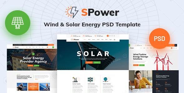 [Free Download] SPower – Wind & Solar Energy PSD Template (Nulled) [Latest Version]