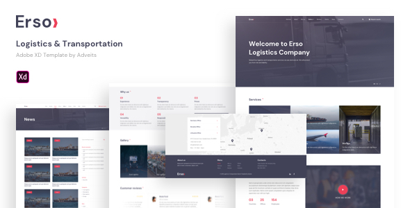 [Free Download] Erso – Logistics & Transportation Adobe XD Template (Nulled) [Latest Version]