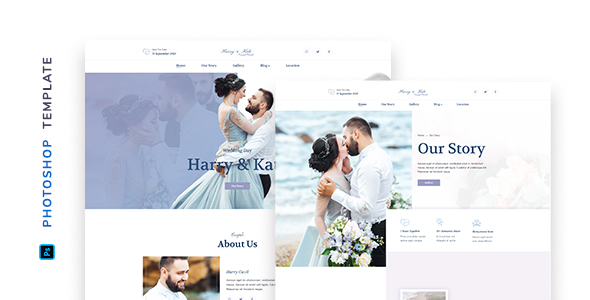 [Free Download] Lovedy – Wedding Template for Photoshop (Nulled) [Latest Version]