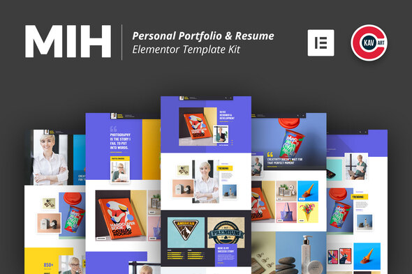 Free Download Mih Personal Portfolio Resume Template Kit Nulled Latest Version Downloader Zone