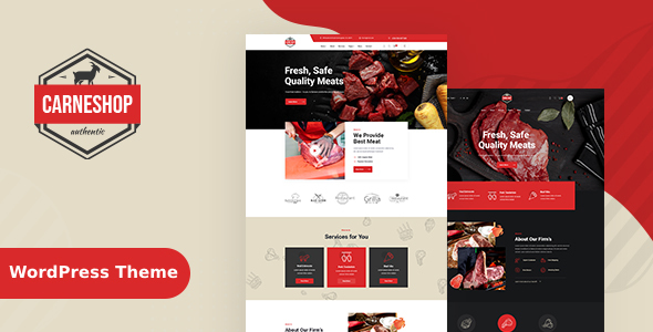 [Free Download] CarneShop – Butcher & Meat Shop WordPress Theme (Nulled) [Latest Version]