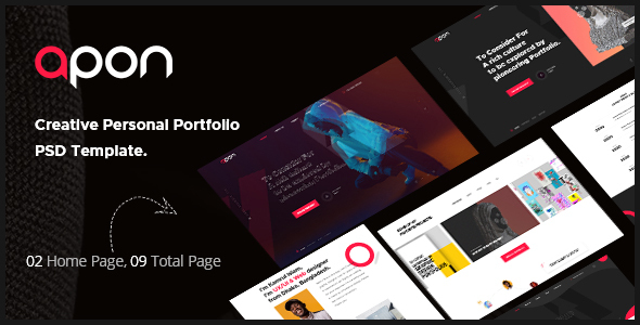 [Free Download] Apon – Creative Personal Portfolio PSD Template. (Nulled) [Latest Version]