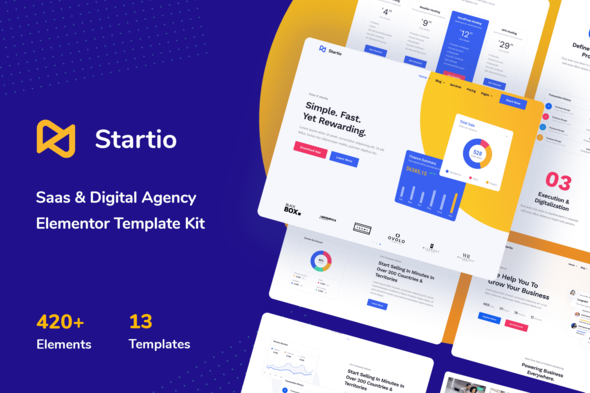 [Free Download] Startio – Saas & Digital Agency Elementor Template Kit (Nulled) [Latest Version]