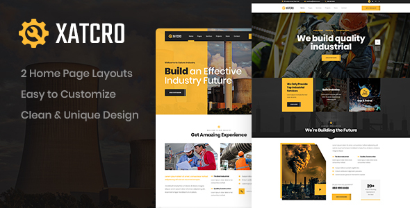 [Free Download] Xatcro – Construction PSD Template (Nulled) [Latest Version]