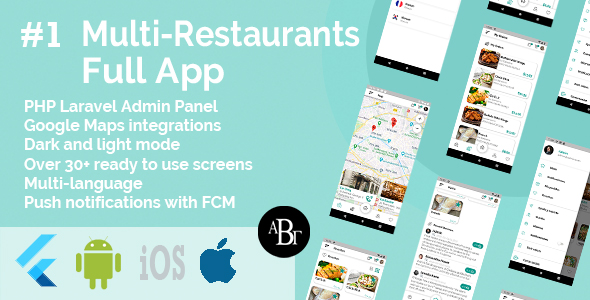 [Free Download] Food Delivery Flutter App + PHP Laravel Admin Panel (Nulled) [Latest Version]