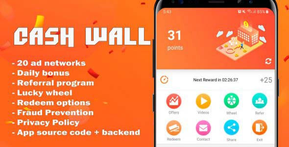 [Free Download] Cash Wall – Android Rewards App Source Code (Nulled) [Latest Version]