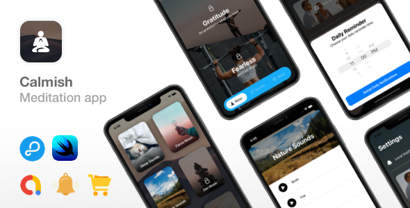 [Free Download] Calmish – Meditation & Relaxation SwiftUI app – iOS 14 ready (Nulled) [Latest Version]