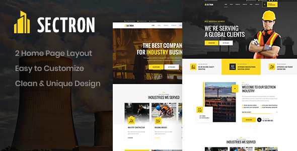 [Free Download] Sectron – Industrial PSD Template (Nulled) [Latest Version]