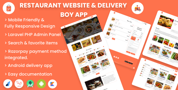 [Free Download] Single restaurant food ordering Website and Delivery Boy App with Admin Panel (Nulled) [Latest Version]