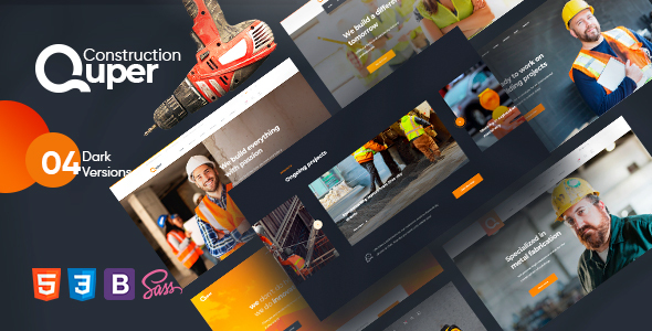 [Free Download] Quper – Construction HTML5 Template (Nulled) [Latest Version]