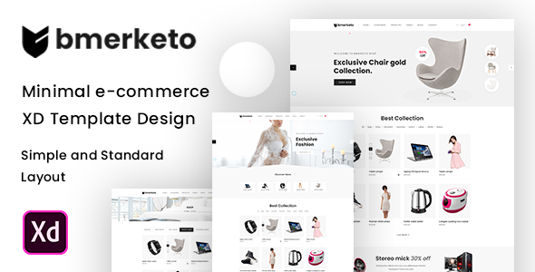 [Free Download] Bmarketo – Minimal E-commerce XD Template (Nulled) [Latest Version]