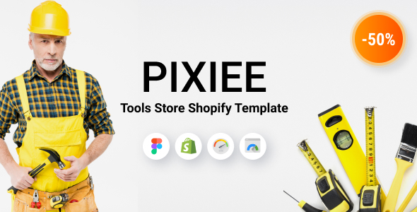 [Free Download] Pixee – Tools Store Shopify Theme (Nulled) [Latest Version]