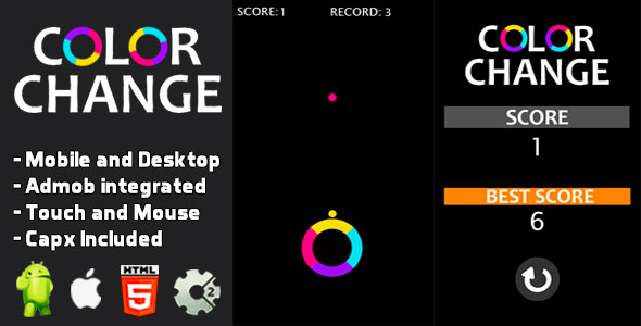 [Free Download] Color Change – Html5 and Mobile (Nulled) [Latest Version]