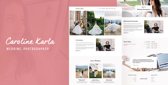 [Free Download] CKARLA – Minimal Wedding Photography Template (Nulled) [Latest Version]